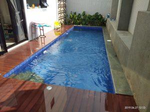 kolam renang arus lantai datar