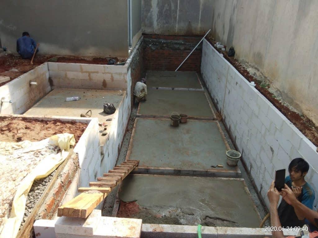 pembuatan kolam renang cinere